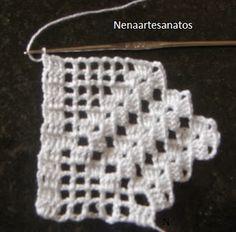 nena-repassandopaps: Pap de um barrado simples em crochê.