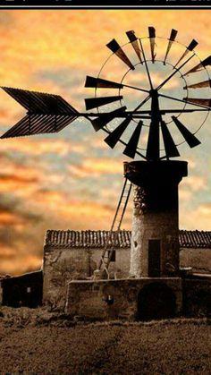 Molino para extraer agua en Mallorca España