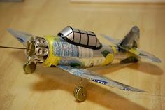 Airplane made from soda cans