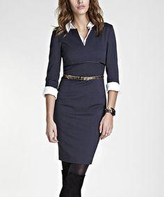 Winter Navy Wool-Blend Natalia Dress by Baukjen on Zulily