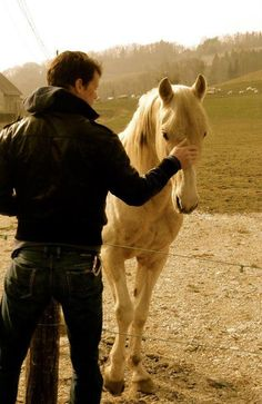 """No wonder he was so good with horses, I thought blearily, feeling his fingers rubbing gently behind my ears, listening to that soothing, incomprehensible speech. If I were a horse, I'd let him ride me anywhere."" ~Diana Gabaldon Pictured:Sam Heughan, who will play Jamie Fraser"