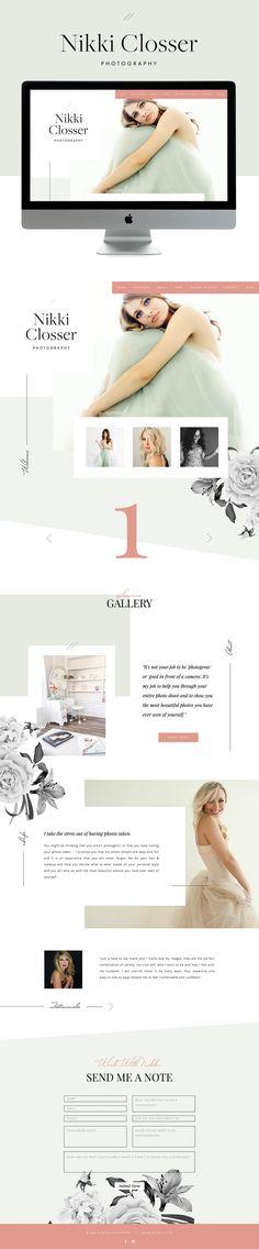 pretty, elegant & friendly showit website design   designed by: golivehq.co