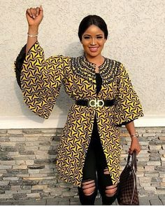 Check out beautiful collection of Stylish and latest Ankara Kimono styles the world love Ankara print, Ankara styles have been made to become an every day. As such, ladies are now seen rocking beautiful Ankara kimono jackets. African Print Dresses, African Fashion Dresses, African Attire, African Wear, African Women, African Dress, African Style, African Clothes, Ankara Fashion
