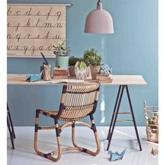 Curve Chair Aneline by Foersom og & Hjort-Lorenzen. Silla de comedor hecha de rattan natural. #Nordika