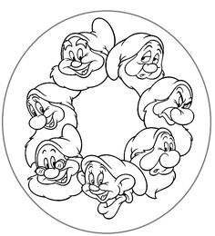 Disney Mandala Coloring Book New Los 7 Enanitos De 7 Dwergen Disney The Effective Pictures We Offer You About applique dress A quality picture can tell you many things. You can find the most beautiful Snow White Coloring Pages, Disney Coloring Pages, Coloring Book Pages, Art Disney, Disney Crafts, Disney Fonts, Outline Drawings, Cool Drawings, Coloring Pages Inspirational