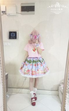 [-❦♡❦-Strawberry Sheep And Cupcakes-❦♡❦-] Skirt