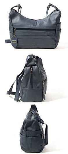 bb3835a128 Blue Leather Purse. Goson Womens Genuine Leather Multi Pocket Shoulder Handbag  Purse Navy Blue.  blue  leather  purse  blueleather  leatherpurse