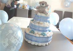 DIY baby shower - lag ting selv til baby showeren. Baby Shower Diapers, Baby Shower Cakes, Babyshower, Barn, Children, Birthday, How To Make, Crafts, Diy