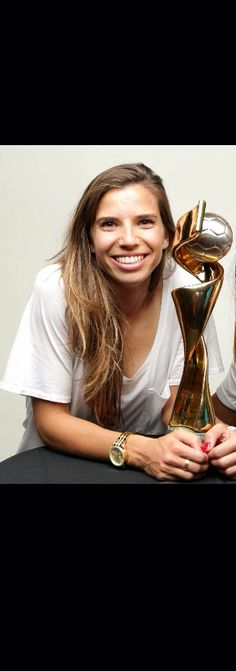 Tobin Heath | Trophy | FIFA | WWC | 2015 | WorldChampion | USWNT |