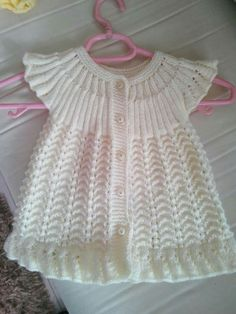 Hızlı ve Kolay Resim Paylaşımı - resim yükle - resim paylaş - Hızlı Resim/вяжем детям / Baby Knitting Patterns, Crochet Baby Dress Pattern, Baby Cardigan Knitting Pattern, Baby Dress Patterns, Knitting Designs, Girls Knitted Dress, Crochet Summer Dresses, Knit Baby Dress, Knitted Baby Clothes