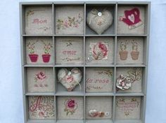 Embroidery in lettercase