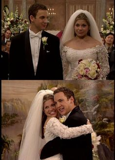 Grab the remote and a carton of Ben & Jerry's because we've rounded up the most iconic TV and movie weddings to ever exist! Wedding Movies, Wedding Pics, Wedding Dresses, Wedding Stuff, Lace Wedding, Old Hollywood Glam, Hollywood Actor, Ben Savage, Cory And Topanga