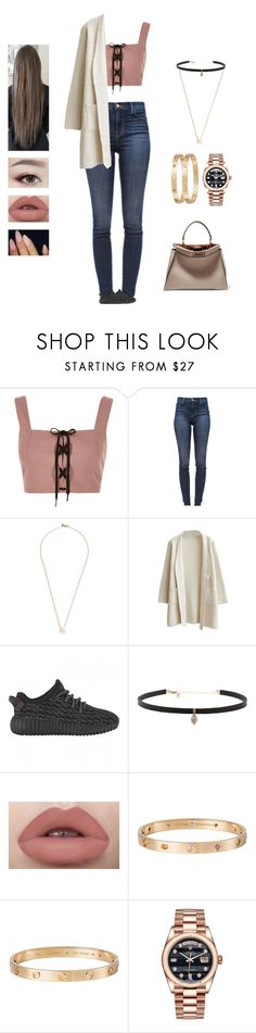 """Bruno Mars - that's what I like"" by kyndraxsvt ❤ liked on Polyvore featuring River Island, J Brand, Shaun Leane, Carbon & Hyde, Cartier, Rolex and Fendi"