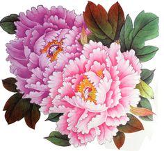 """Extra large taille rose pivoine tatouages de fleurs 8,66 """"x8.07 temporaires"""" pouces: Amazon.fr: Hygiène et Soins du corps"""