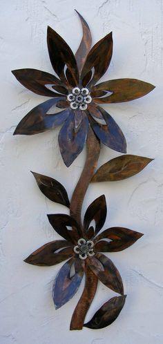 Rusted flower art