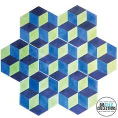 Encaustic Cement Tile - Hex 1