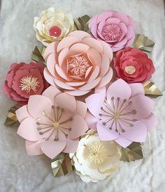 Grande 8 pieza Nursey conjunto flores de por ArielleEliseDesigns