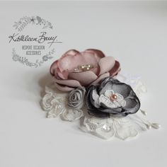 Mother of the bride Corsage brooch pin - assorted colors available - retinue gi – Kathleen Barry Bespoke Occasion Accessories