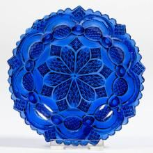 Boston & Sandwich Glass Co. <BR><I>Excellent condition overall with two minor flakes to the edge.</I><BR><BR> Provenance: From a Minnesota private collection. Love Blue, Blue And White, Color Blue, Bleu Cobalt, Antique Glass, Antique Bottles, Vintage Bottles, Vintage Perfume, Blue Dishes