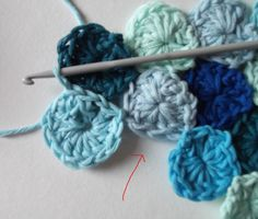sea penny crochet tutorial - this might be a great use for all that random cascade 220