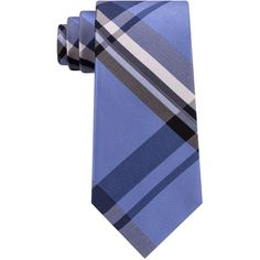 Kenneth Cole Reaction Men's Onyx Plaid Silk Tie (3,535 INR) ❤ liked on Polyvore featuring men's fashion, men's accessories, men's neckwear, ties, blue, mens plaid ties, mens ties, mens tartan tie and mens silk ties