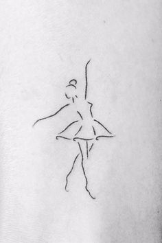 Calling all bunheads: these tattoos show off your love for ballet tatoo, vo Mini Drawings, Cute Easy Drawings, Art Drawings Sketches Simple, Pencil Art Drawings, Doodle Drawings, Doodle Art, Love Drawings, Ballet Tattoos, Ballet Dancer Tattoo