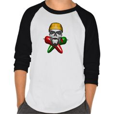 Jalapeno Pepper Skull Tee Shirts