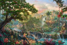 Thomas Kinkadefoi um pintor profissional por mais de 20 anos. Nesse tempo, ele realizou diversas parcerias com a Disney em datas especiais, como aniversários de desenhos etc. Seu trabalho todo é tão original que estima-se que 1 a cada 20 americanos possuem uma cópia de suas pinturas em casa! Os destaques vão para duas de suas séries que vieram dessa parceria: Disney Dreams e Disney Collection. Ambas trazem alguns personagens...