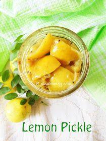 Cooking Is Easy: Lemon Pickle/Vella Naranga Achar (Kerala Style) Ketchup, Lemon Pickle Recipe, Lemon Recipes, Healthy Recipes, Indian Food Recipes, Kerala Recipes, Asian Recipes, Fruit Sec, Lime Pickles