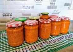 pároljuk Pesto, Salsa, Bacon, Vitamins, Food And Drink, Cooking Recipes, Yummy Food, Favorite Recipes, Jar
