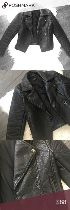 Top shop leather jacket! Black great quality leather jacket from top shop! Topshop Jackets & Coats