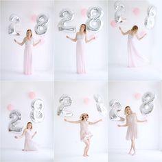 Birthday Shoot » Amie Pendle Mylar number balloons