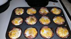 """Ham, egg and cheese muffins!! """"""""  @allthecooks #recipe"""