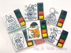 Paint your own cookies Halloween hand decorated sugar cookies