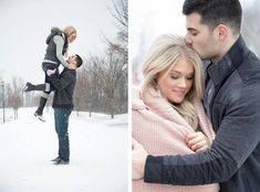 Cozy, Snowy Engagement Session from 2ndIINone Productions featured on Burgh Brides - 2nd II None Productions