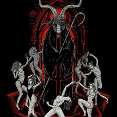 Online Portfolio of Førtifem — Art Direction & Illustration - Adrien & Jesse, Paris Demon Art, Black Phillip, Gothic Fantasy Art, Satanic Art, Dark Pictures, Dark Pics, Occult Art, Occult Symbols, Macabre Art