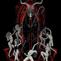 Online Portfolio of Førtifem — Art Direction & Illustration - Adrien & Jesse, Paris Baphomet, Art Macabre, Art Noir, Black Phillip, Satanic Art, Demon Art, Occult Art, Gothic Art, Dark Art