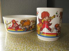 Rainbow Brite cup and bowl