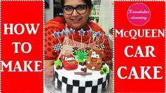 lightning Mcqueen cars birthday cake:cake decorating videos recipes Simple Birthday Cake Designs, Easy Kids Birthday Cakes, Cartoon Birthday Cake, Cake Designs For Kids, Friends Birthday Cake, Animal Birthday Cakes, Simple Cake Designs, Frozen Birthday Cake, Birthday Cake Girls