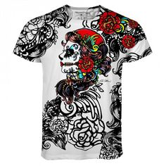 Burro Day Of The Dead for Mens Tee designed by Leila Cothran