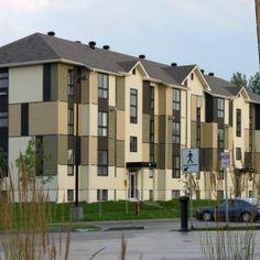 Résidences étudiantes Rouyn-Noranda, Abitibi-Témiscamingue Multi Story Building, Landscape Architecture