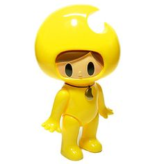 Mikazukin Vinyl Toy (yellow)  by ©Itokin-Park / Produced by One Up  Created & Designed by Kazuhiko Ito.