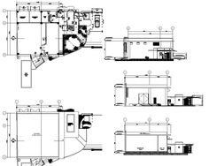 power house and guard house floor plan and elevations Guard House, Autocad, House Floor Plans, 2d, Flooring, Models, How To Plan, Home Plants, Templates