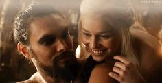 Pin for Later: The Sexiest GIFs of the Sexiest Game of Thrones Guys When Khal Drogo Shares a Sweet Moment With Daenerys