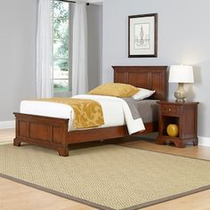Home Styles Chesapeake Twin Headboard 4 Piece Bedroom Set in Cherry, Red Twin Bedroom Sets, Bed Sets, White Bedroom, Twin Headboard, Panel Headboard, Kids Bedroom Furniture, Kitchen Furniture, Home Fashion, Bed Frame