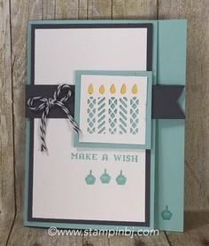 You get this awesome card when you use the Window Shopping stamp set and the Window box thinlit in an alternate way!  Details on my blog.  #stampinbj.com