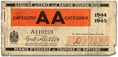 FFFFOUND! | Gasoline Licence and Ration Coupon Book, Category AA, 1944-1945