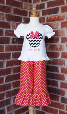 Applique Shirt & Ruffle Pants by Perry & Pearl Boutique    http://www.facebook.com/PerryandPearlBoutique