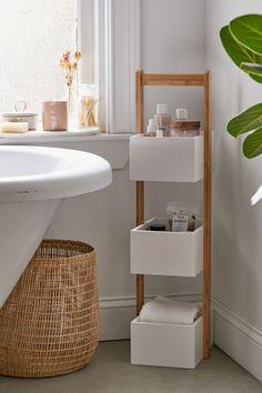 home accessories Design bathroom storage - Bamboo Bath Storage Caddy Bathroom Organization Diy, Apartment Furniture, Bathroom Furniture, Bathroom Interior Design, Small Bathroom Storage, Small Bathroom Decor, Apartment Bathroom, Small Bathroom, Bathroom Decor
