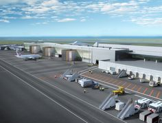 Remodelling and extension of Jersey Airport terminal by Chapman Taylor for Ramboll and Ports of Jersey, to create an integrated arrivals/departures building Airline Jobs, Airport Jobs, Atrium, Open Plan, Ground Floor, Exterior Design, Journey, Concept, Building